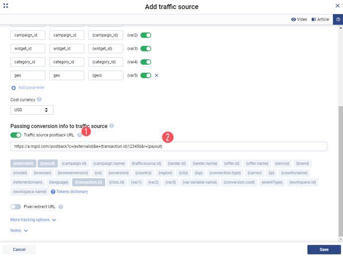 EN.Add traffic sources
